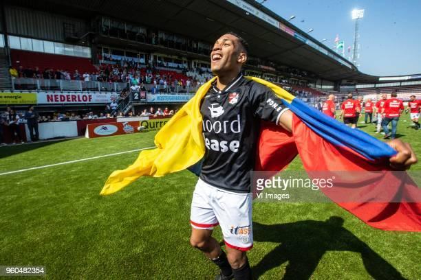 Michael Chacon of FC Emmen during the Dutch Jupiler League playoffs final match between Sparta Rotterdam and FC Emmen at the Sparta stadium Het...