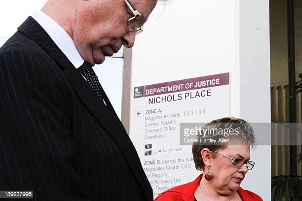 Michael Chamberlain and Lindy Chamberlain-Creighton arrive at Darwin Magistrates Court for the first day of the fourth coronial inquest into the...