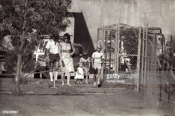 Michael Chamberlain visits his wife Lindy Chamberlain at Berrima Jail in Darwin where she is serving a sentence which would later be overturned for...