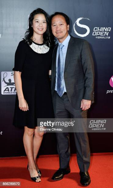 Michael Chang and his wife attend the 2017 China Open Player Party at Beijing Olympic Tower on October 1, 2017 in Beijing, China.