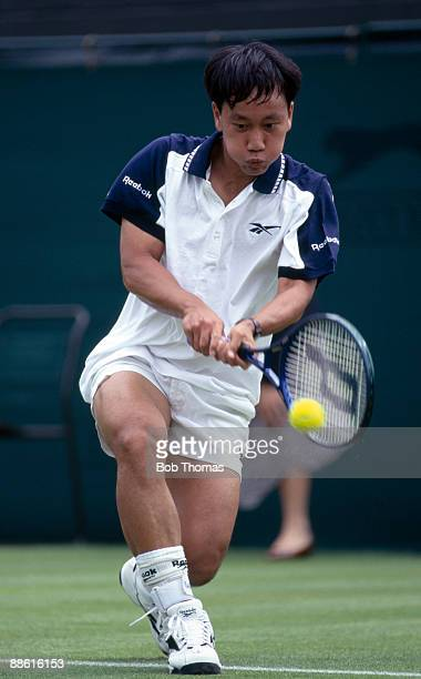 Michael Chang of the USA during the Wimbledon Lawn Tennis Championships held at the All England Club in London England during September 1996