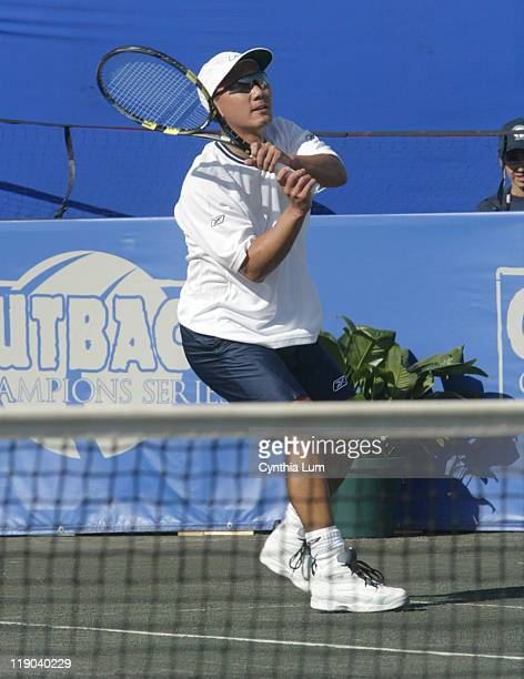 Michael Chang of the USA in action defeating Petr Korda of the Czech Republic 62 64 in the first round of the Champions Cup Naples at the Players...