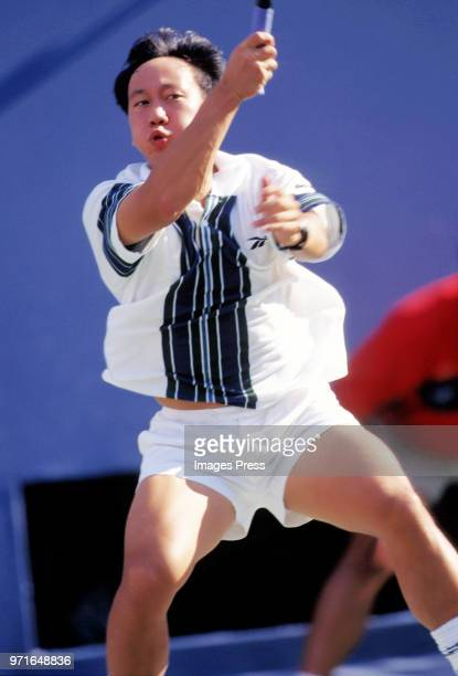 Michael Chang plays tennis at the US Open circa 1997 in New York City
