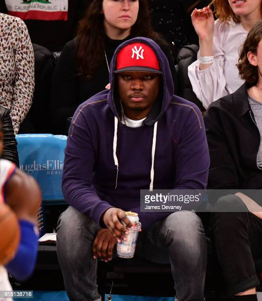 Michael Che attends the New York Knicks vs Milwaukee Bucks game at Madison Square Garden on February 6 2018 in New York City