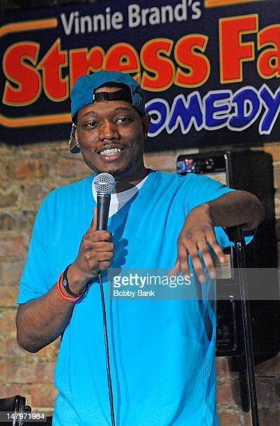 Michael Che performs at The Stress Factory Comedy Club on July 6, 2012 in New Brunswick, New Jersey.
