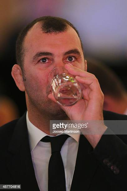 Michael Cheika looks on during the 2014 John Eales Medal at Royal Randwick Racecourse on October 23 2014 in Sydney Australia