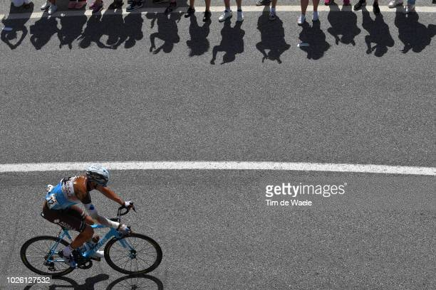 Michael Cherel of France and Team AG2R La Mondiale / Crash / Injury / Fans / Public / Shadow / during the 73rd Tour of Spain 2018 Stage 9 a 2008km...