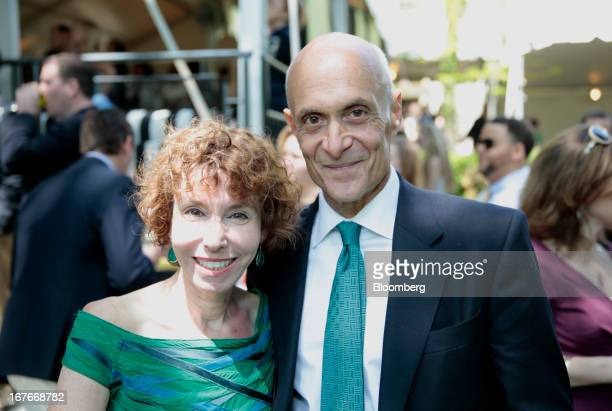 Michael Chertoff chairman of the Chertoff Group and former secretary of the US Department of Homeland Security left and his wife Meryl Chertoff...