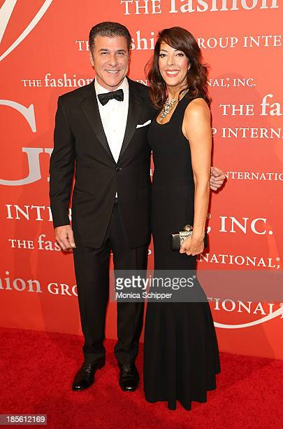 Michael Chiarello and Leslie Blodgett attend the 30th annual Fashion Group International Night of Stars on October 22 2013 in New York City