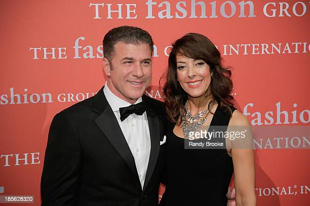 Michael Chiarello and Leslie Blodgett attend the 30th Annual Night Of Stars presented by The Fashion Group International at Cipriani Wall Street on...