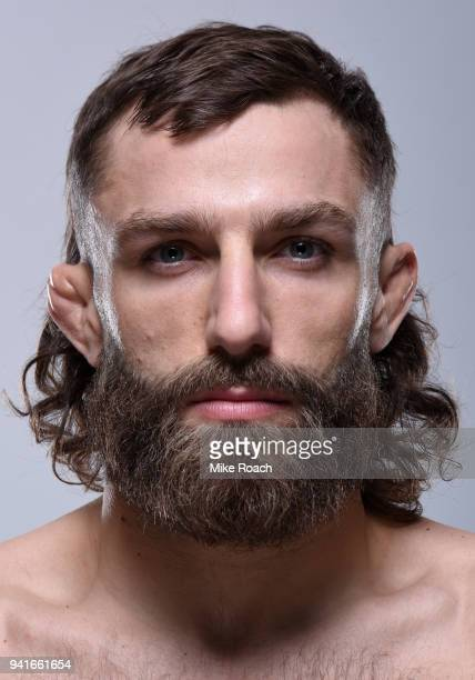 Michael Chiesa poses for a portrait during a UFC photo session on April 3 2018 in Brooklyn New York