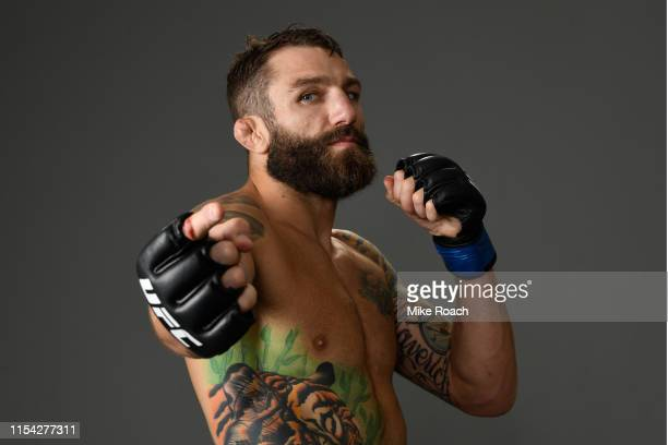 Michael Chiesa poses for a portrait during the UFC 239 event at TMobile Arena on July 6 2019 in Las Vegas Nevada
