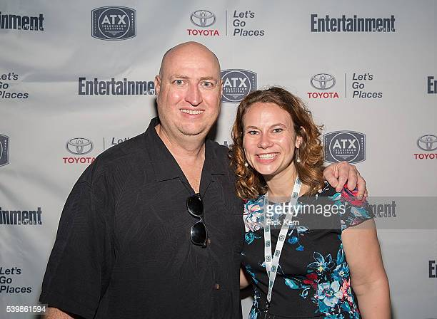 Michael Chiklis and ATX Television Festival Founder / CoExecutive Director Emily Gipson attend the Ugly Betty Reunion After Party presented with...