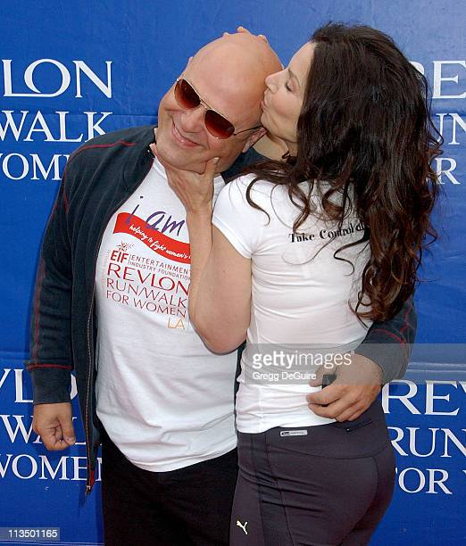 Michael Chiklis and Fran Drescher during The 14th Annual Entertainment Industry Foundation Revlon Run/Walk for Women at Los Angeles Memorial Coliseum...