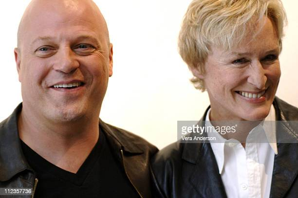 """Michael Chiklis and Glenn Close during """"The Shield"""" Press Conference with Glenn Close and Michael Chiklis at Four Seasons Hotel in Beverly Hills,..."""