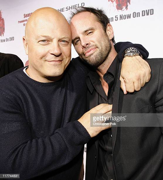 Michael Chiklis and Walton Goggins during 'The Shield' Season 6 Premiere and Season 5 DVD Launch Party Red Carpet at Cabana Club in Hollywood...