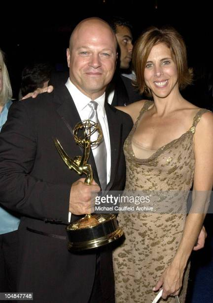Michael Chiklis and wife Michelle Moran with his Emmy at the Governors' Ball