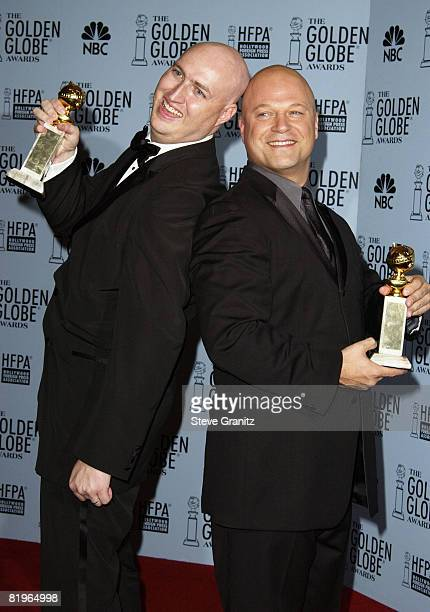 """Michael Chiklis, right, and producer of """"The Shield"""" Shawn Ryan"""