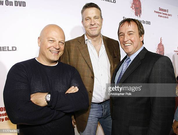 Michael Chiklis Steven Feldstein Fox Home Entertainment Executive and Simon Swart EVP of sales for Twentieth Century Fox Home Entertainment