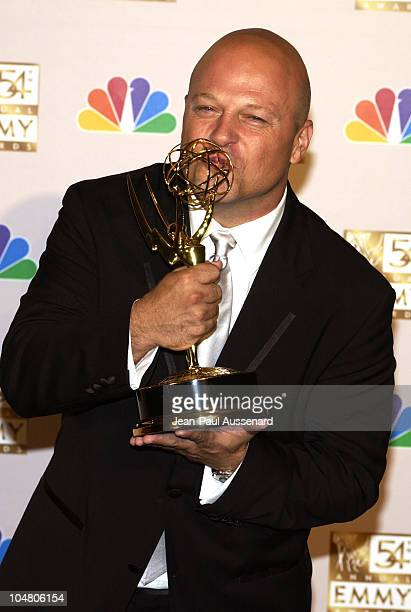 """Michael Chiklis winner for Best Lead Actor In A Drama Series, """"The Shield"""", at the 54th Annual Emmy Awards"""