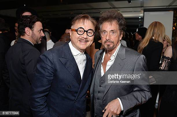 Michael Chow and Al Pacino attend The Daily Front Row Fashion Los Angeles Awards Private Dinner Hosted By Eva Chow And Carine Roitfeld at Mr Chow on...