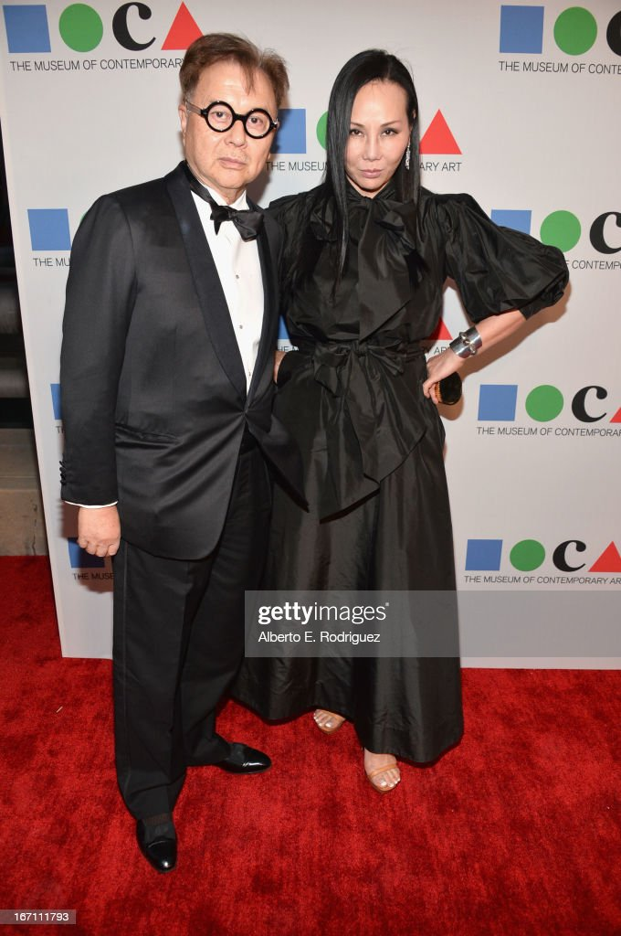 """Michael Chow and Eva Chow attend """"Yesssss!"""" MOCA Gala 2013, Celebrating the Opening of the Exhibition Urs Fischer, at MOCA Grand Avenue and The Geffen Contemporary on April 20, 2013 in Los Angeles, California."""