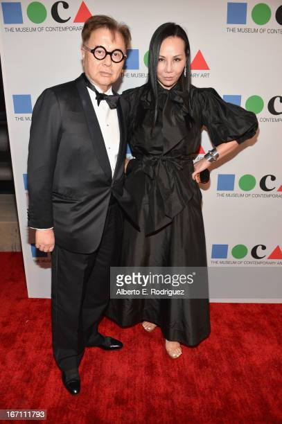 "Michael Chow and Eva Chow attend ""Yesssss"" MOCA Gala 2013 Celebrating the Opening of the Exhibition Urs Fischer at MOCA Grand Avenue and The Geffen..."