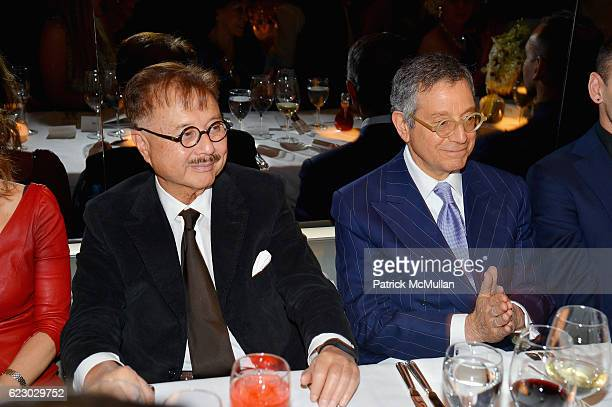 Michael Chow and Jeffrey Deitch attend The Warhol Dinner @ MR CHOW at Mr Chow in Tribeca on November 12 2016 in New York City