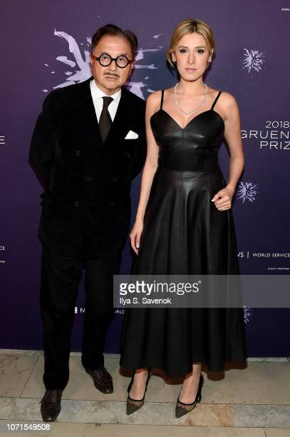 Michael Chow and Vanessa Rano attend the Third Annual Berggruen Prize Gala at the New York Public Library on December 10 2018 in New York City