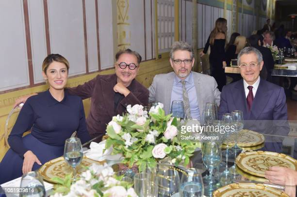 V Michael Chow Andrew Perchuk and Jeffrey Deitch attend The Getty C Magazine Dinner at The Getty Villa on October 11 2018 in Pacific Palisades...