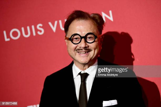 Michael Chow attends The Broad and Louis Vuitton's celebration of Jasper Johns Something Resembling Truth at The Broad on February 8 2018 in Los...