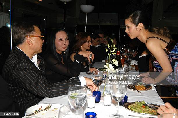Michael Chow Eva Chow and China Chow attend Dinner for the Christopher Wool Opening at GAGOSIAN GALLERY at Mr Chow on March 2 2006 in Beverly Hills CA