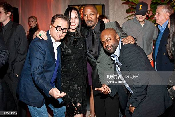 Michael Chow Eva Chow Jamie Foxx and Breyon Prescott attend L'Ermitage on January 29 2010 in Los Angeles California