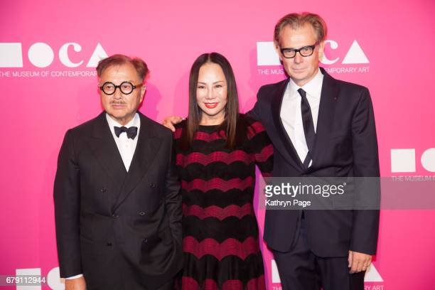 Michael Chow Eva Chow and Philippe Vergne attend The Museum of Contemporary Art Los Angeles Annual Gala at The Geffen Contemporary at MOCA on April...