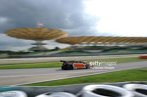 Michael Chua Khian Keng Rick Cheang Wan Chin Joseph Chua Thian Song of Malaysia dives the Gama Racing Lamborghoni Gallardo during the Asian Lemans...