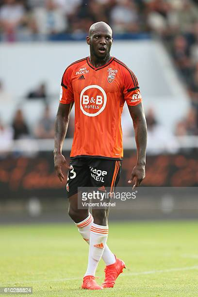 Michael Ciani of Lorient during the Ligue 1 match between FC Lorient and Olympique Lyonnais at Stade du Moustoir on September 24 2016 in Lorient...