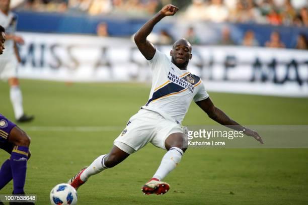 Michael Ciani of the Los Angeles Galaxy kicks the ball at StubHub Center on July 29 2018 in Carson California