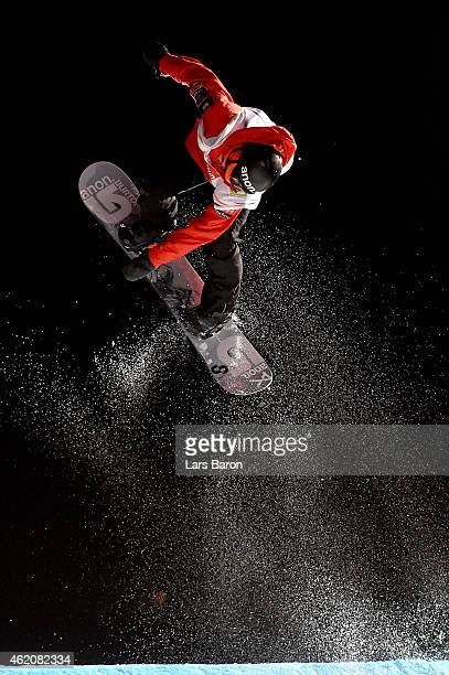Michael Ciccarelli of Canada competes in the Men's Big Air Finals during the FIS Freestyle Ski and Snowboard World Championships 2015 on January 24...