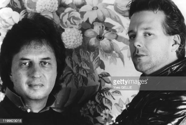 Michael Cimino et Mickey Rourke à Londres lors de la sortie du film 'L'année du Dragon' en novembre 1985 RoyaumeUni