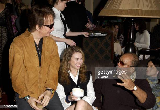 Michael Cimino Yvonne Scio Quincy Jones during Angela Missoni hosts Private Champagne Brunch and Preview of Special Evening Collection for Academy...