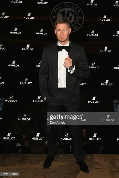 Michael Clarke arrives ahead of the HUBLOT ALL BLACK celebration event at Carriageworks on November 10 2016 in Sydney Australia