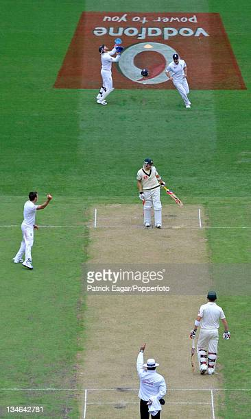 Michael Clarke caught by Matt Prior off James Anderson Australia v England 4th Test Melbourne December 201011