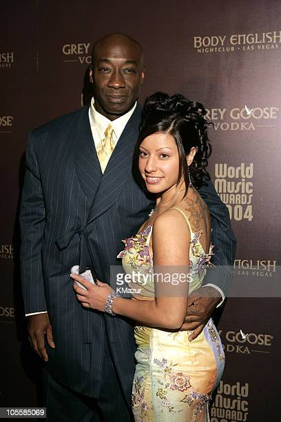 Michael Clarke Duncan and Irene Marquez during 2004 World Music Awards After Party at Body English at The Hard Rock Hotel and Casino in Las Vegas...