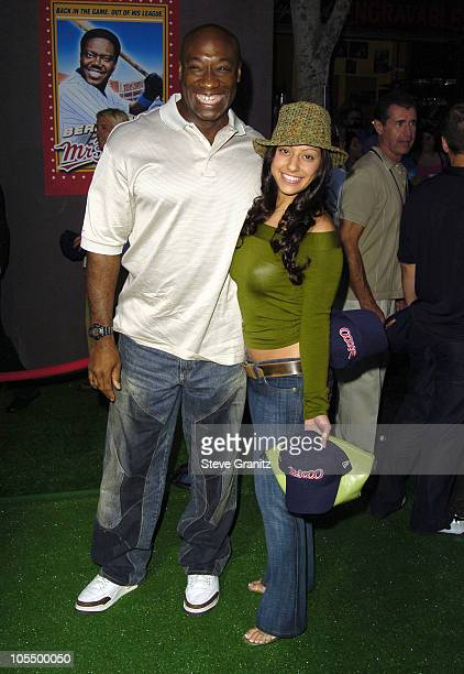 Michael Clarke Duncan and Irene Marquez during Mr 3000 Premiere Los Angeles at El Capitan in Hollywood California United States