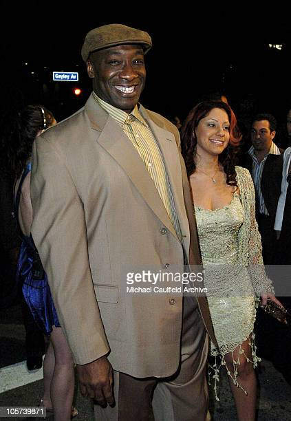 """Michael Clarke Duncan and Irene Marquez during """"Sin City"""" Los Angeles Premiere - Red Carpet at Mann National Theater in Los Angeles, California,..."""