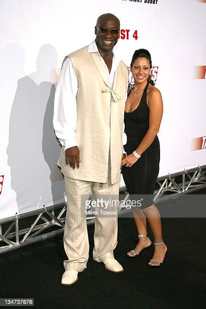 Michael Clarke Duncan and Irene Marquez during Talladega Nights Los Angeles Premiere Arrivals at Grauman's Chinese Theater in Hollywood California...