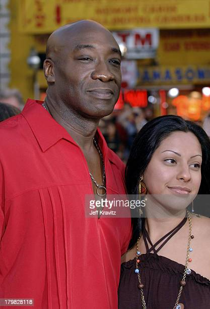 Michael Clarke Duncan and Irene Marquez during War of the Worlds Los Angeles Premiere and Fan Screening Arrivals at Grauman's Chinese Theater in Los...