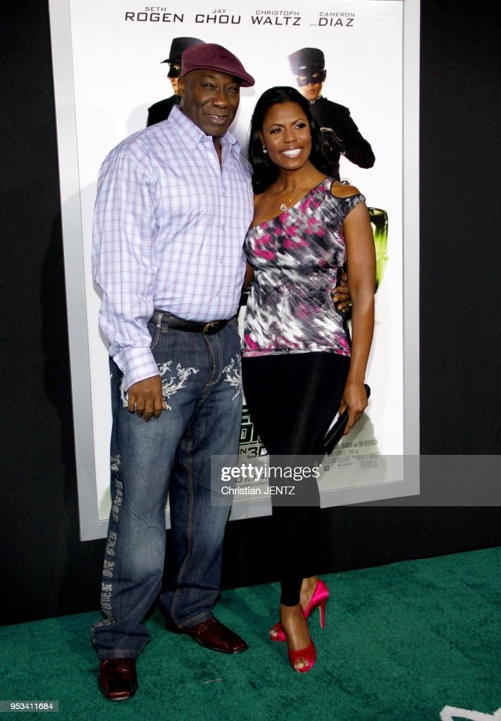 Michael Clarke Duncan and Omarosa at the Los Angeles Premiere of 'The Green Hornet' held at the Grauman's Chinese Theater in Hollywood, Los Angeles, USA on January 10, 2010.