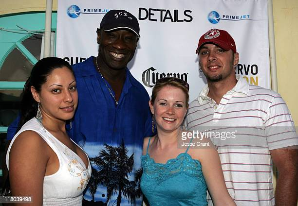 Michael Clarke Duncan with girlfriend Irene Marquez and Melissa Joan Hart and husband Mark Wilkerson