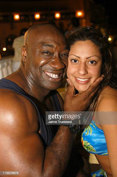 Michael Clarke Duncan with girlfriend Irene Martin at the VIP room